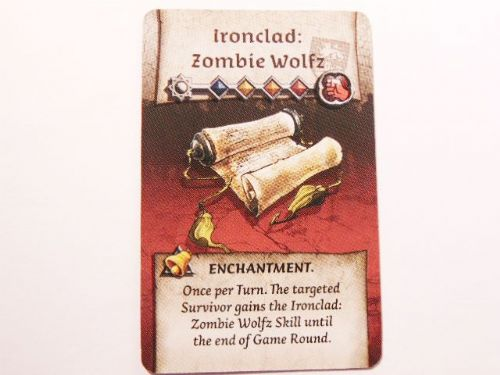 wulfsburg survivor enchantment card (zombie wolfz)